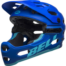 Bell Super 3R MIPS Casque, matte blue/bright blue